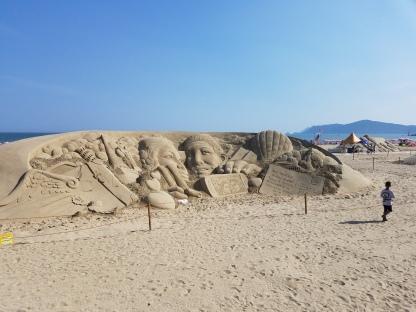 Haeundae Beach sand art