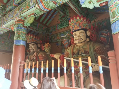 Beomeosa Cheonwangmun - two of the Four Kings
