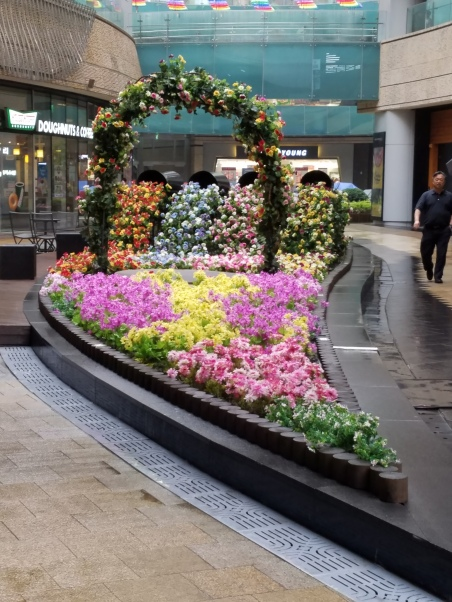 Flowered display in Insadong
