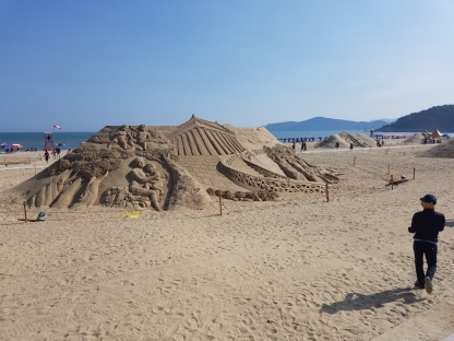 Sand art on Haeundae Beach