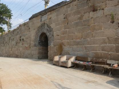 Wall outside the barracks village
